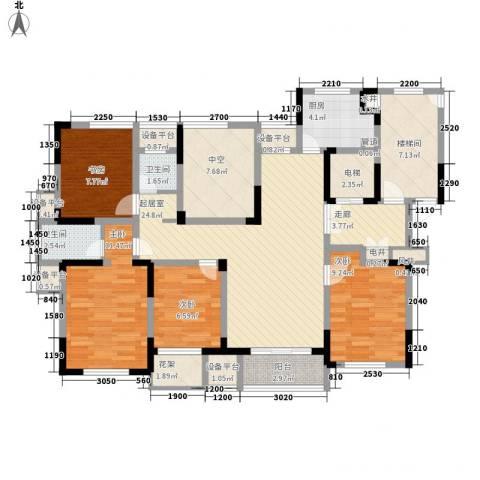 金色城邦4室0厅2卫1厨147.00㎡户型图