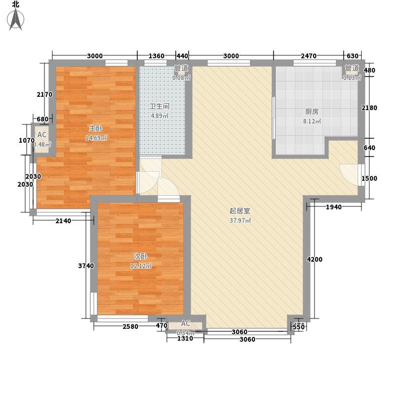 月亮湾3221户型3室2厅2卫1厨