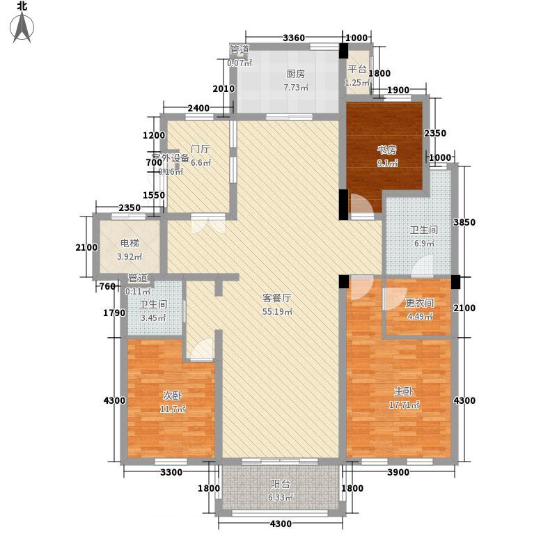 三江小区108.00㎡三江小区3室户型3室