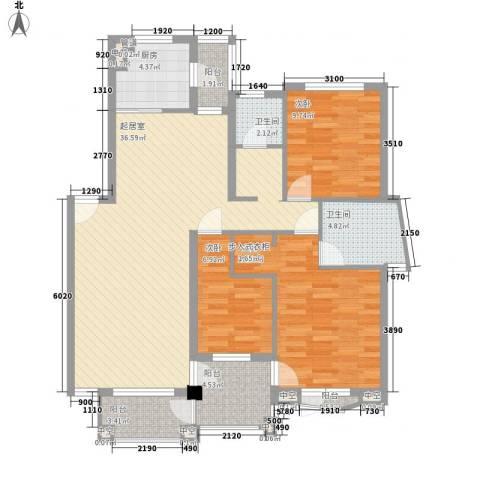 众益阳光海岸3室0厅2卫1厨130.00㎡户型图