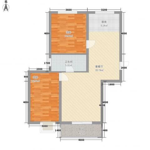 BOBO悠乐城2室1厅1卫0厨71.51㎡户型图