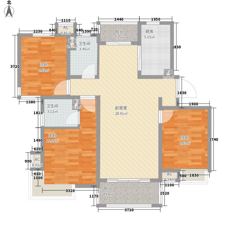 丽景花园115.84㎡丽景花园户型图户型图3室2厅2卫户型3室2厅2卫