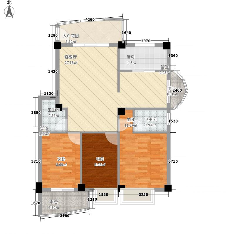 水岸华庭109.54㎡水岸华庭户型图3室2厅2卫户型10室