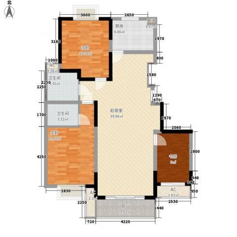 万润阳光丽景3室0厅2卫1厨141.00㎡户型图