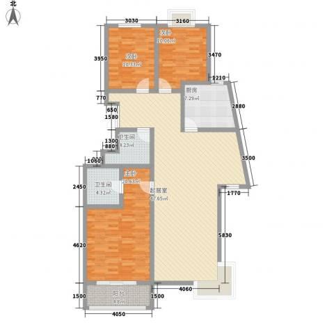 融基湖光山色3室0厅2卫1厨156.00㎡户型图