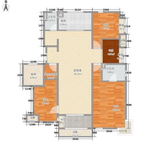 万科金域东郡4室0厅2卫1厨146.00㎡户型图