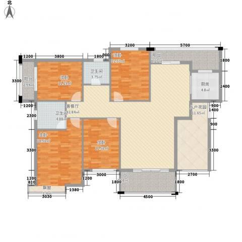 丰尚国际4室1厅2卫1厨157.00㎡户型图