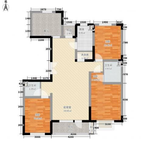 棠棣3室0厅2卫1厨127.00㎡户型图