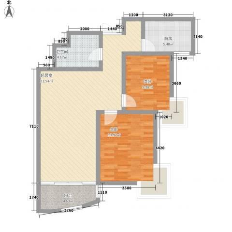 融基湖光山色2室0厅1卫1厨103.00㎡户型图