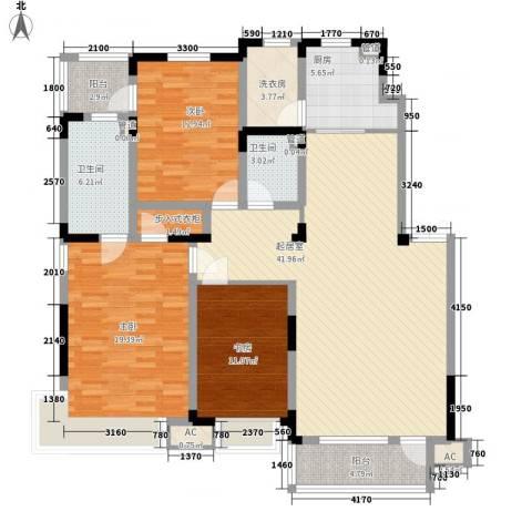 棠棣3室0厅2卫1厨140.00㎡户型图