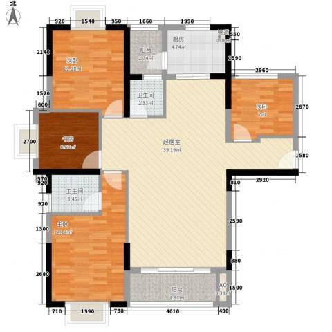 万星嘉和时代4室0厅2卫1厨96.75㎡户型图