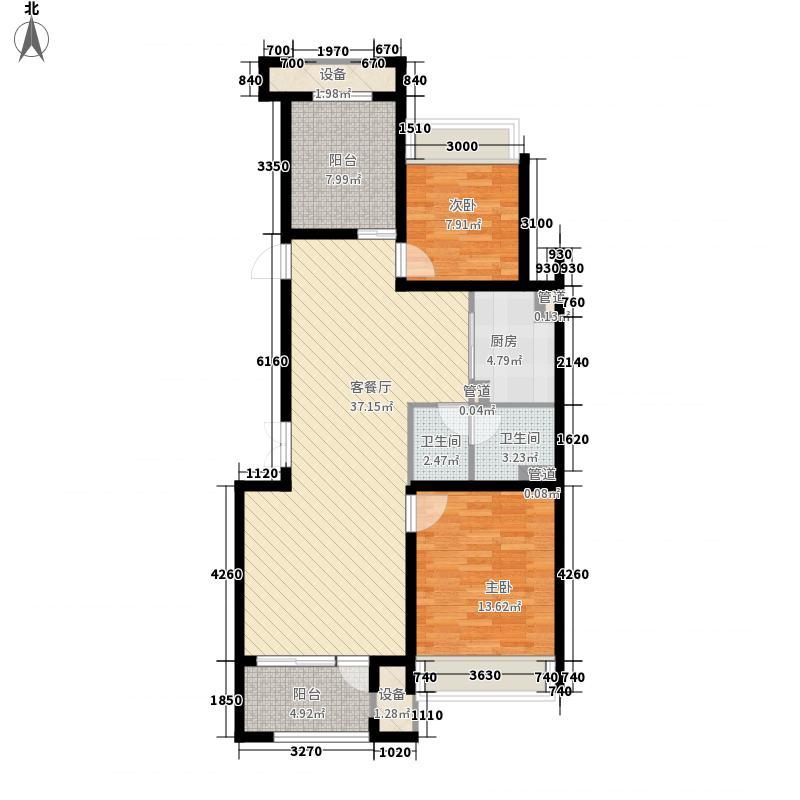 空港家园6.00㎡四期洋房E户型3室2厅1卫1厨