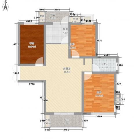 鑫盛・公园1号3室0厅1卫1厨112.00㎡户型图