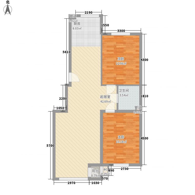 筑景新光93.40㎡筑景新光户型图2室2厅1卫户型10室