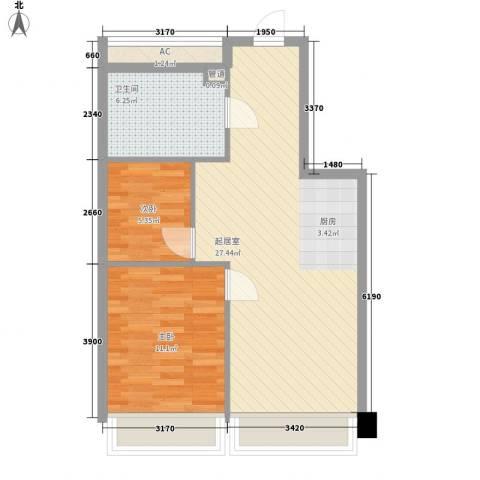 黎明生活坊2室0厅1卫0厨72.00㎡户型图