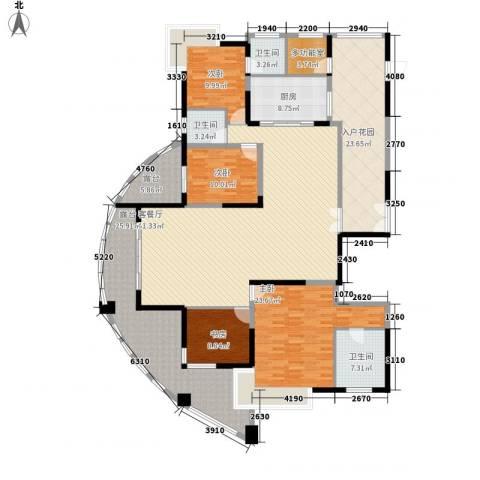 圣莫丽斯三期4室1厅3卫1厨276.00㎡户型图
