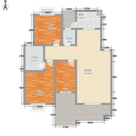 漓水书香3室0厅2卫1厨128.00㎡户型图