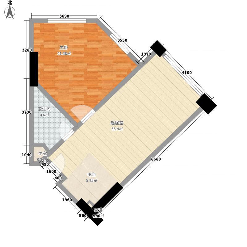 利豪名郡85.00㎡利豪名郡户型图公寓4-11层C户型1室1厅1卫户型1室1厅1卫
