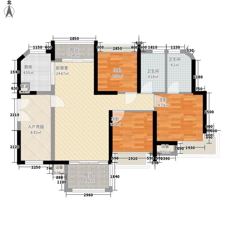 埠上桃源5.68㎡C2户型3室2厅2卫