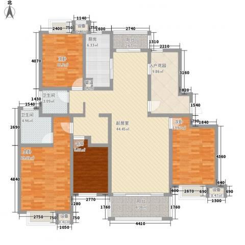 常青花园4室0厅2卫1厨192.00㎡户型图