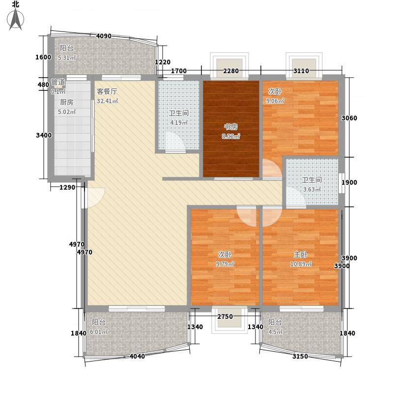 水岸华庭138.56㎡水岸华庭户型图4室2厅2卫户型10室