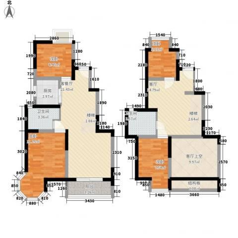 香格里拉・水岸绿城4室2厅2卫1厨160.00㎡户型图