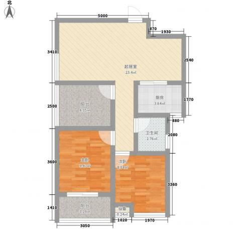 常青花园2室0厅1卫1厨85.00㎡户型图