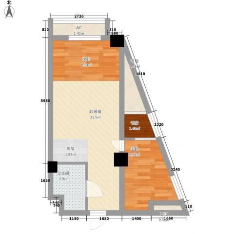 黎明生活坊2室0厅1卫0厨54.00㎡户型图