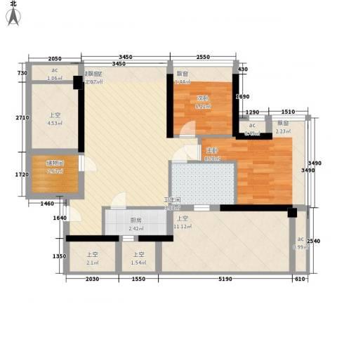 尚书银座2室0厅1卫1厨98.00㎡户型图