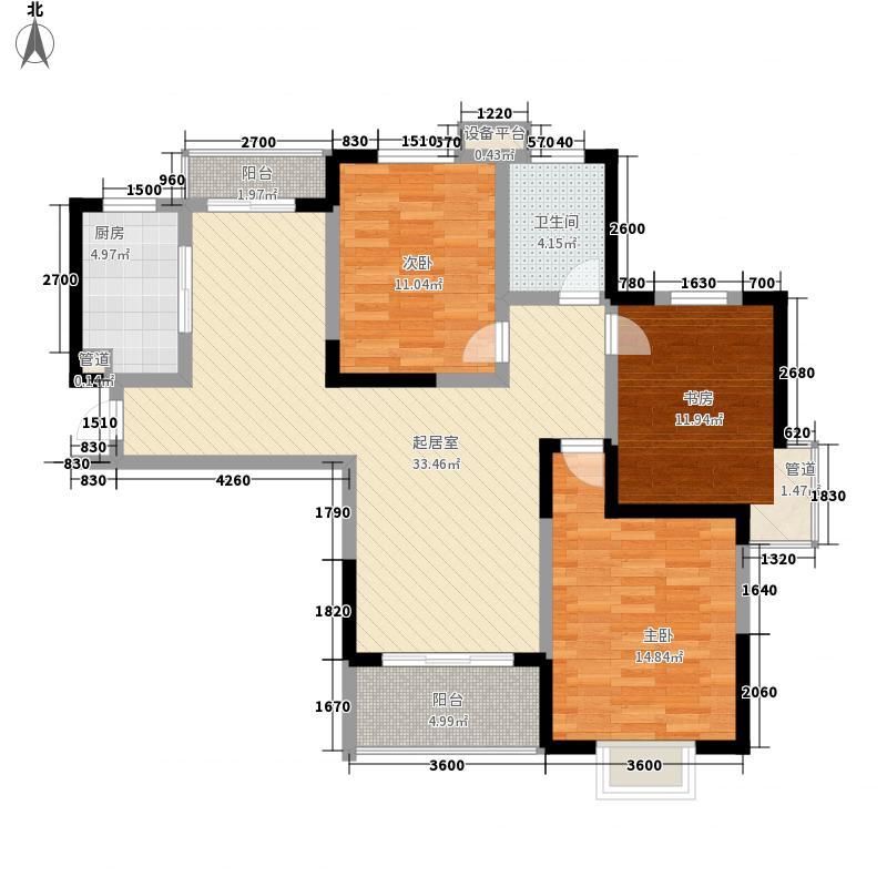 金大陆上东城115.00㎡金水湾花园户型图3#B1户型3室2厅1卫1厨户型3室2厅1卫1厨