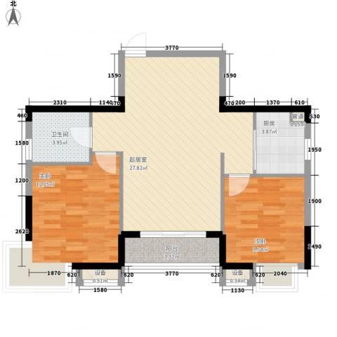 常青花园2室0厅1卫1厨88.00㎡户型图