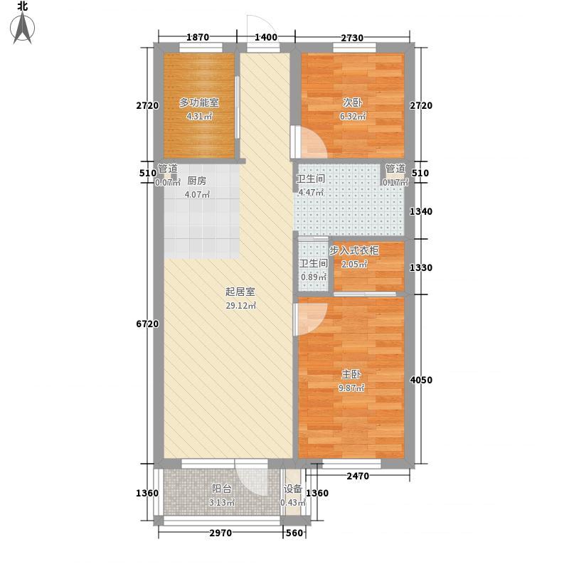 大有文园80.90㎡大有文园户型图10#、12#楼E户型3室1厅1卫1厨户型3室1厅1卫1厨