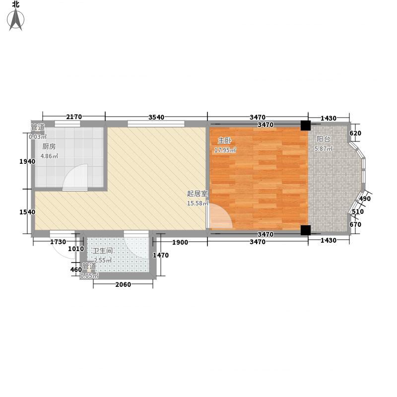 东泰金谷东泰金谷户型图户型使用面积46.33㎡1室1厅1卫1厨户型1室1厅1卫1厨