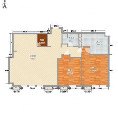 瑞安·君汇3室0厅2卫0厨170.00㎡户型图