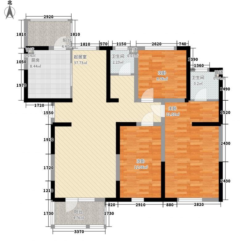 紫竹华庭140.00㎡二期1、4号楼标准层D户型