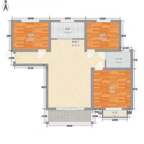 安泰诚品3室1厅1卫1厨110.00㎡户型图