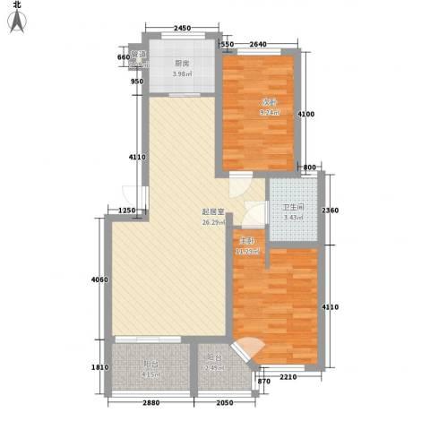 天建南苑旅游度假村2室0厅1卫1厨88.00㎡户型图