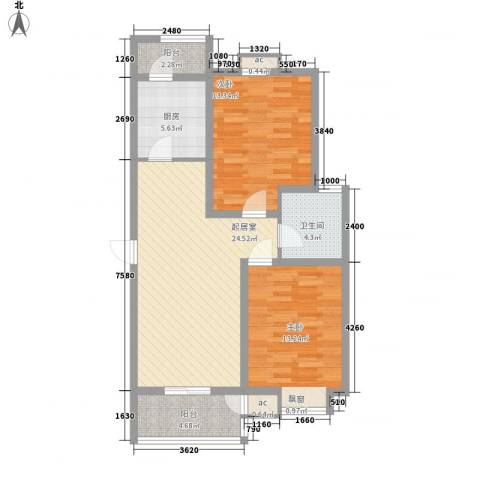 中建御邸世家2室0厅1卫1厨102.00㎡户型图