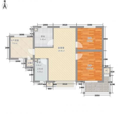 星光城2室0厅1卫1厨98.00㎡户型图