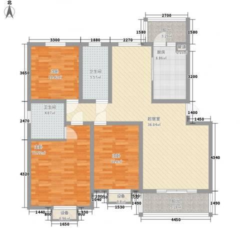 馨合佳园3室0厅2卫1厨128.00㎡户型图