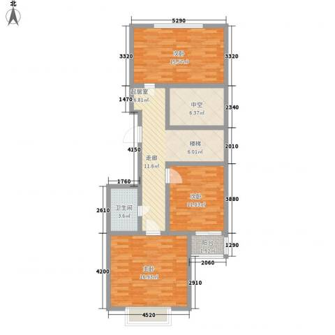 北美枫情3室0厅1卫0厨190.00㎡户型图
