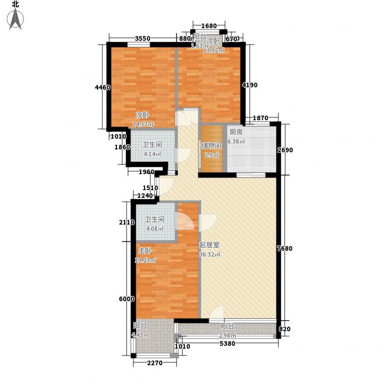 乐成国际F标准层户型3室2厅2卫1厨