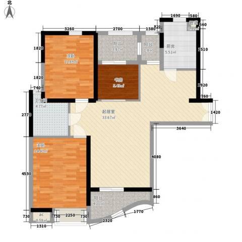 郦城国际3室0厅1卫1厨119.00㎡户型图
