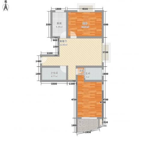 欣中爱丁堡项目2室1厅2卫1厨119.00㎡户型图