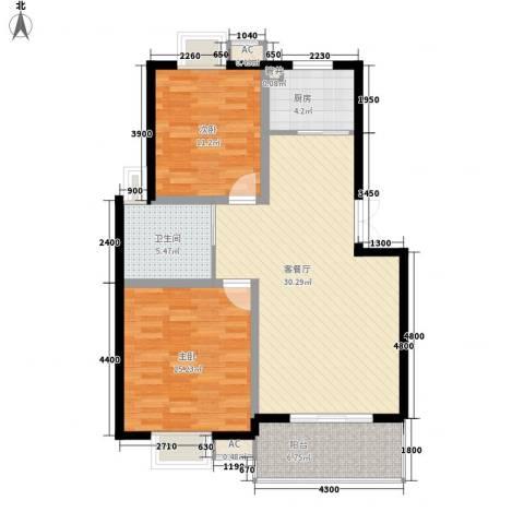 甲辰巷2室1厅1卫1厨93.00㎡户型图