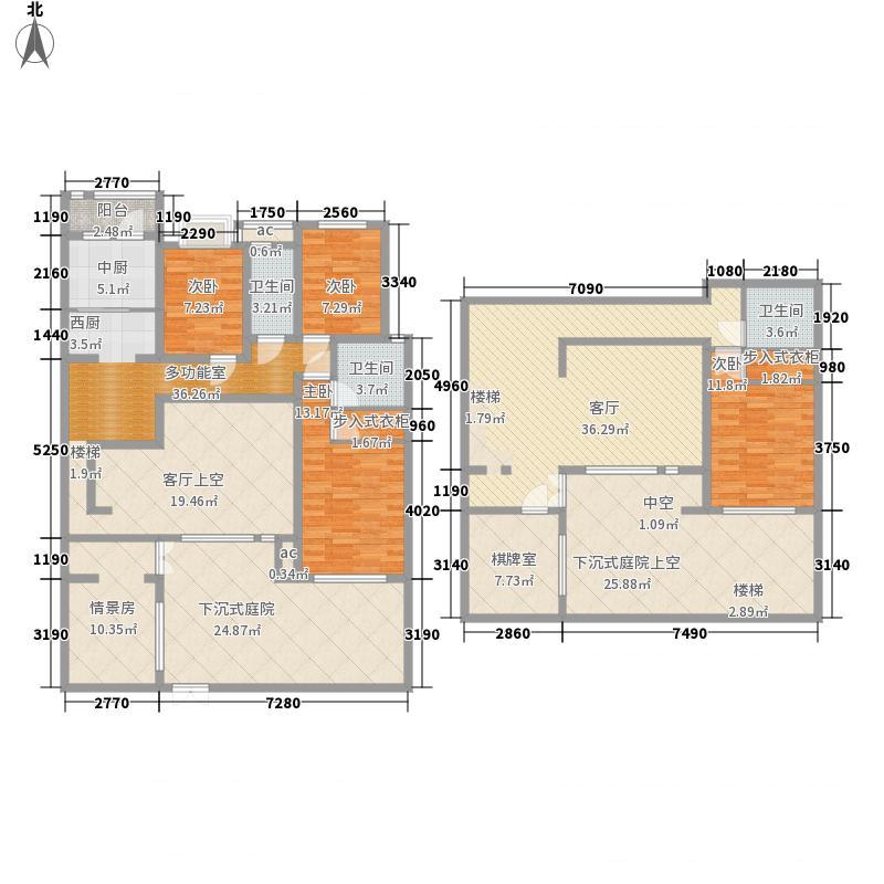 国大全城230.39㎡11、12号楼下跃面积23039m户型