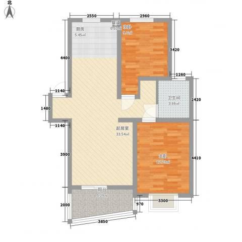 格林馨园2室0厅1卫0厨94.00㎡户型图