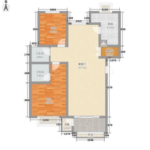 翔宇盛乐新城2室1厅2卫1厨109.00㎡户型图