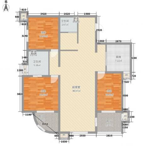 峰汇公馆3室0厅2卫1厨157.00㎡户型图