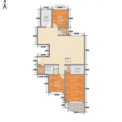 欣中爱丁堡项目3室1厅2卫1厨102.37㎡户型图